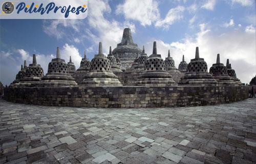 Candi-Borobudur-di-Kabupaten-Magelang,-Jawa-Tengah