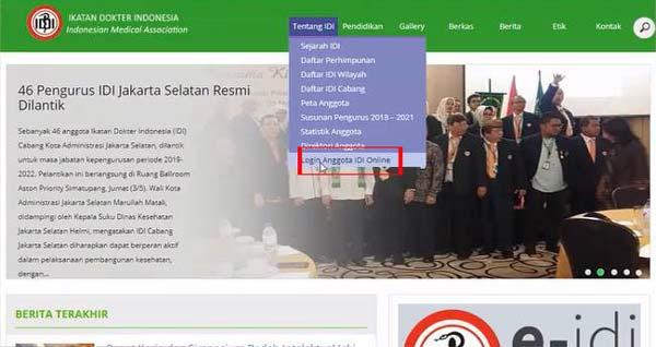 Klik Login Anggota IDI Online