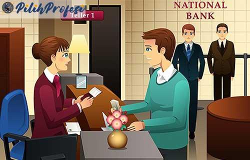 Gambar Animasi Karyawan Bank Mandiri Teller Bank Adalah Pengertian Tugas Tanggung Jawabnya Pilihprofesi