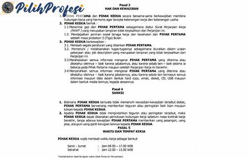 Contoh Surat Kontrak Kerja Karyawan 3