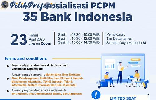 Syarat Daftar Rekrutmen PCPM BI