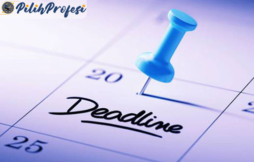 1. Buat Deadline